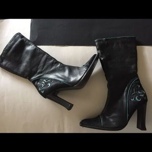 Pazzo Leather and pony hair boots 👢